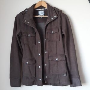 Volcom Burned Down Snap Button Jacket Size SP